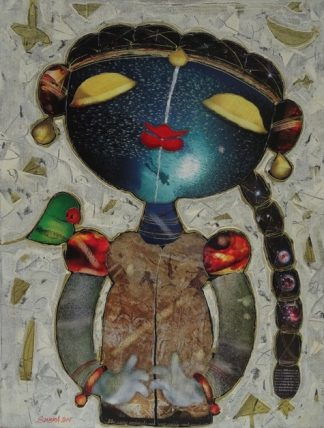 Girl with Parrot by G Subra