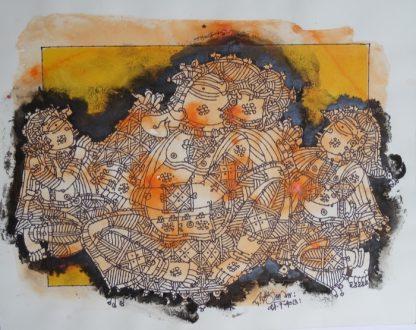 Ganesha - In Orange by G Raman