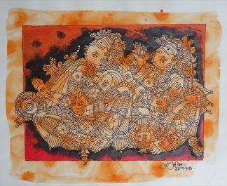 Musicians - In Orange by G Raman