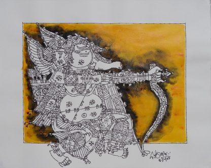 Ganesha - The Archer by G Rama
