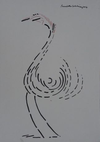 Bird by artist Premalatha Seshadri at Iba Arts and Crafts