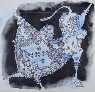 Prancing bull by G Raman