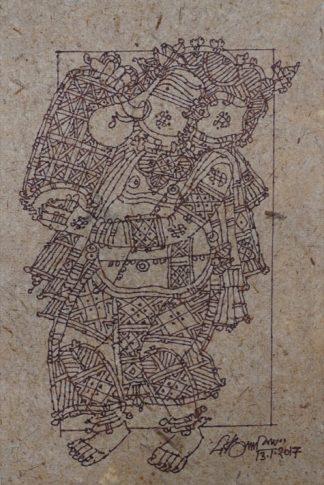 Ganesha with mrudangam by G Raman