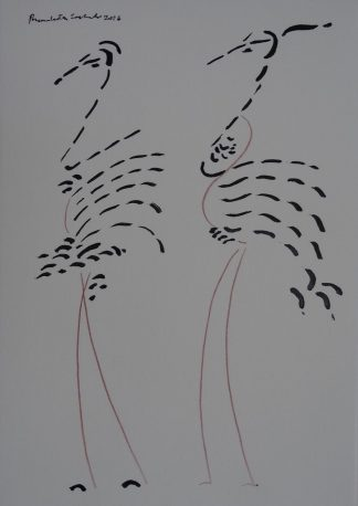 Birds by artist Premalatha Seshadri at Iba Arts and Crafts