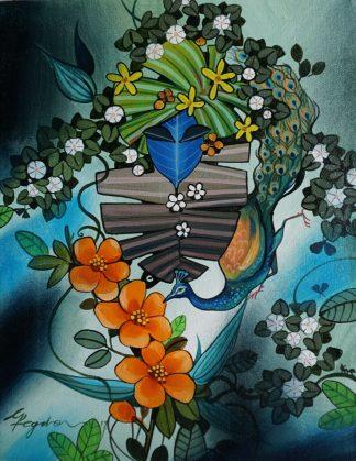 Praising Nature - Krishna by Ganapati Hegde