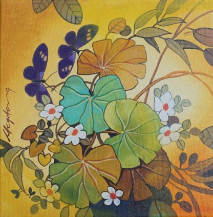 Leaves on the Wind by Ganapathi Hegde
