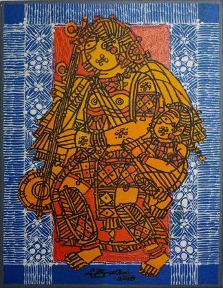 Mother and Child - Tambura by G Raman