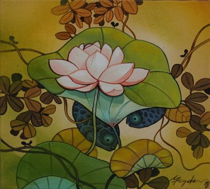 Lotus and We Two by Ganapati Hegde