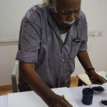 Painting demo By artist G Raman at Iba arts and Crafts1